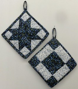 Blueberries potholder